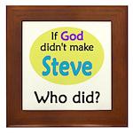 Who Made Steve? Framed Tile