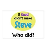 Who Made Steve?   Postcards (Package of 8)