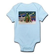 Xmas Magic-Airedale Pair Infant Bodysuit