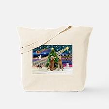 Xmas Magic-Airedale Pair Tote Bag