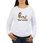 """Piece"" on Earth Women's Long Sleeve T-Shirt"