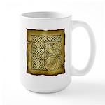 Celtic Letter F Large Mug