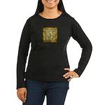 Celtic Letter F Women's Long Sleeve Dark T-Shirt