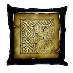 Celtic Letter F Throw Pillow