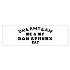 Don Sphynx Cat Designs Bumper Sticker