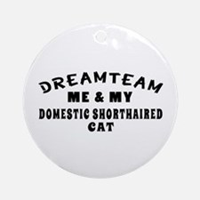 Domestic Shorthaired Cat Designs Ornament (Round)