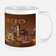 Chicago Over Lakefront Night Scene Mug