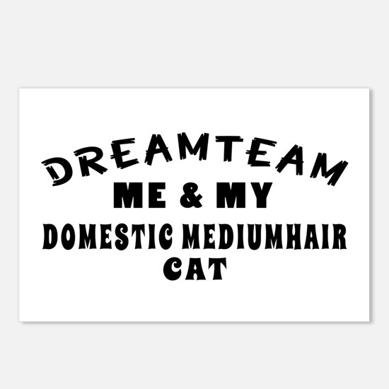 Domestic mediumhair Cat Designs Postcards (Package