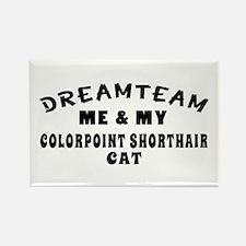 Colorpoint Shorthair Cat Designs Rectangle Magnet
