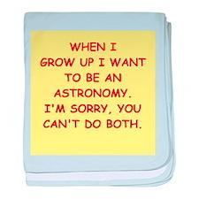 astronomy baby blanket