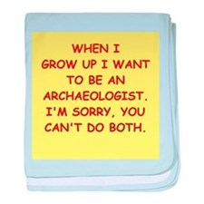 archaeology baby blanket
