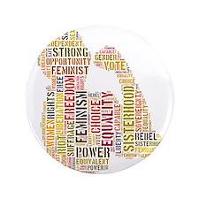 "Feminist Strength 3.5"" Button"