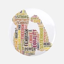 "Feminist Strength 3.5"" Button"