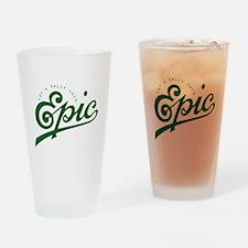 Story Split Drinking Glass