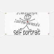 Stick Figure Self Portrait Banner