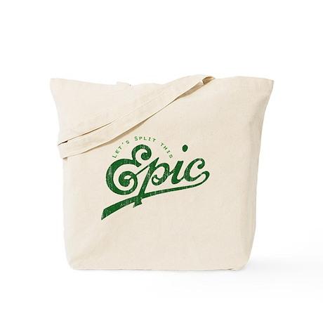 Faded Story Split Tote Bag