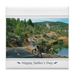 Bike Ride Tile Coaster