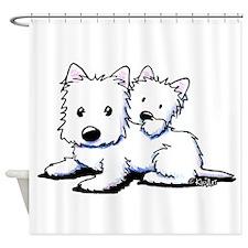 Westie Pair Shower Curtain