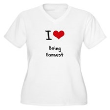I love Being Earnest Plus Size T-Shirt