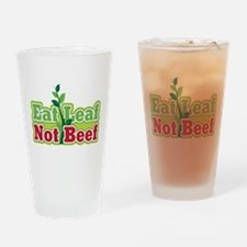 Eat Leaf Not Beef Drinking Glass