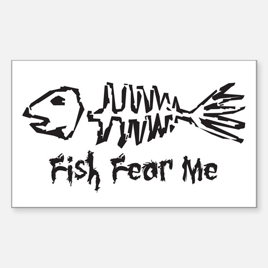 Fish Fear Me Rectangle Decal