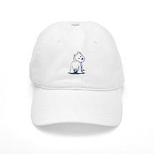 KiniArt Fluffybutt Westie Baseball Cap