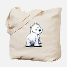 KiniArt Fluffybutt Westie Tote Bag