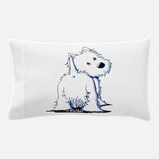 KiniArt Fluffybutt Westie Pillow Case