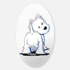 KiniArt Fluffybutt Westie Stickers