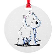 KiniArt Fluffybutt Westie Ornament