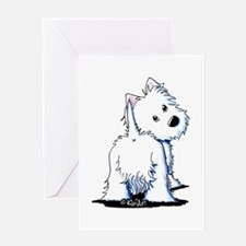 KiniArt Fluffybutt Westie Greeting Card