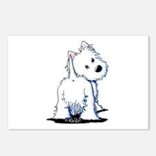 KiniArt Fluffybutt Westie Postcards (Package of 8)
