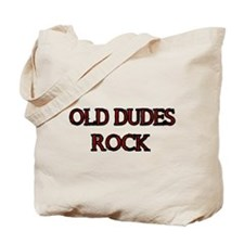OLD DUDES ROCK-RED Tote Bag