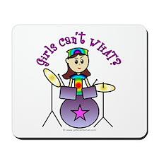 Light Girl Drummer Mousepad