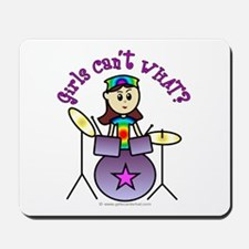 Light Girl Drummer Mousepad