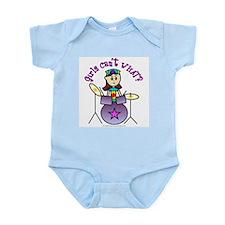 Light Girl Drummer Infant Bodysuit