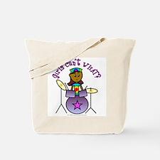 Dark Girl Drummer Tote Bag