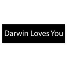 Darwin Loves You Bumper Car Sticker
