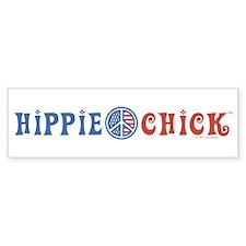 Hippie Chick Bumper Bumper Bumper Sticker