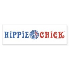 Hippie Chick Bumper Bumper Sticker