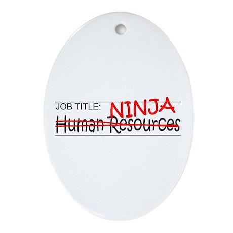 Job Ninja HR Ornament (Oval)
