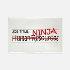 Job Ninja HR Rectangle Magnet
