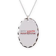Job Ninja HR Necklace Oval Charm