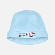 Job Ninja History Teacher baby hat