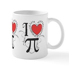 I Heart Pi Small Mugs