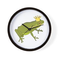 Frog Royalty Wall Clock