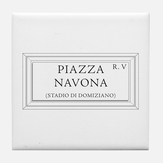 Piazza Navona, Rome - Italy Tile Coaster