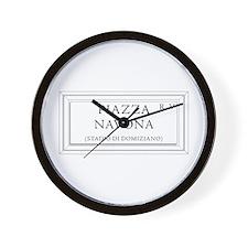 Piazza Navona, Rome - Italy Wall Clock