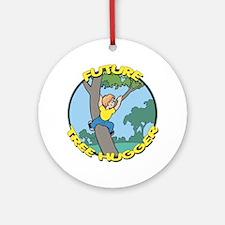 Future Tree Hugger Ornament (Round)