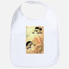 Two Women Utamaro Woodcut Bib